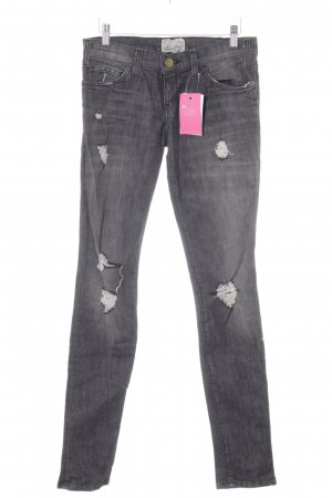 Current/elliott Skinny Jeans dunkelgrau Used-Optik