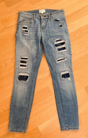 Current Elliott Skinny Jeans mit Patches