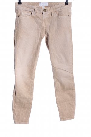 Current/elliott Skinny Jeans natural white-white spot pattern casual look