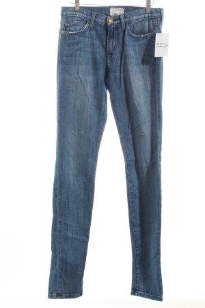 Current/elliott Straight-Leg Jeans blau Street-Fashion-Look