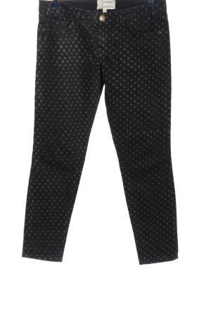 Current/elliott Straight-Leg Jeans hellgrau-schwarz Punktemuster Casual-Look