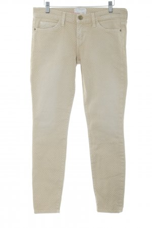 Current/elliott Straight-Leg Jeans sandbraun-wollweiß Punktemuster Casual-Look