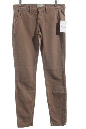 Current/elliott Stretch Jeans hellbraun schlichter Stil