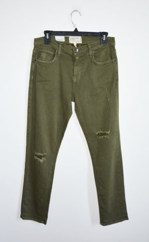 Current Elliott The Fling Hose Jeans Military Green 36 38 Neu