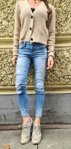 Current/Elliott  THE STILETTO Jeans Slim Fit shredded destroyed