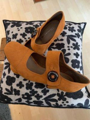 Curry Farbenne Blockabsatz Schuhe  in Größe 40 einmal getragen