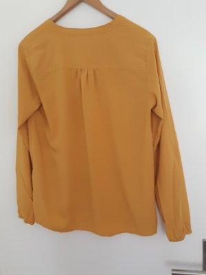 Saint Tropez Blusa de manga larga marrón arena-amarillo lyocell