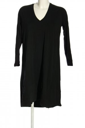 cus Jurk met lange mouwen zwart casual uitstraling