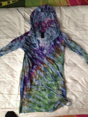 Custo Barcelona Hooded Shirt purple-azure polyester