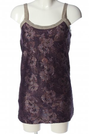 Custo Barcelona Long-Bluse braun-schwarz Blumenmuster Casual-Look