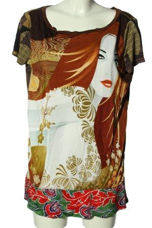 Custo Barcelona Longshirt Motivdruck Casual-Look