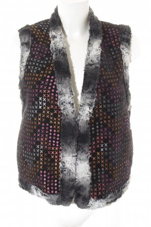 Custo Barcelona Reversible Vest mixed pattern fluffy