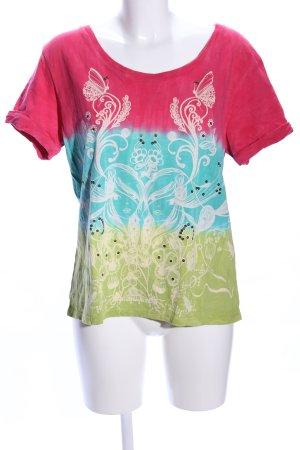 CUSTO CHIC Print-Shirt Farbverlauf Casual-Look