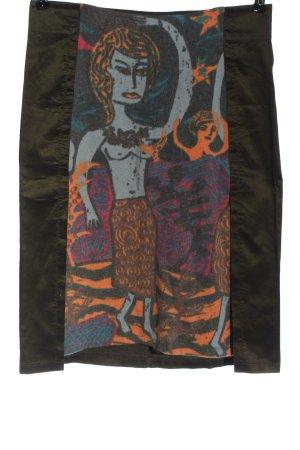 Custo High Waist Skirt themed print casual look