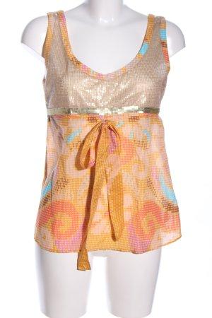 Custo Line Sleeveless Blouse abstract pattern extravagant style