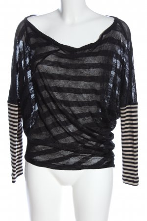 Custo Long Shirt black-natural white striped pattern casual look