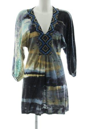 Custo Tunikabluse abstraktes Muster extravaganter Stil