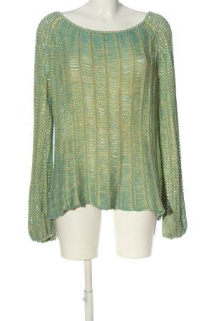 Custo Maglione intrecciato verde-giallo pallido stile casual