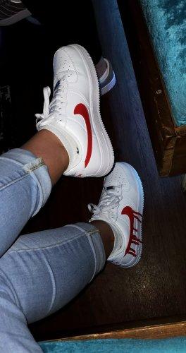 Nike Sneaker stringata bianco-rosso