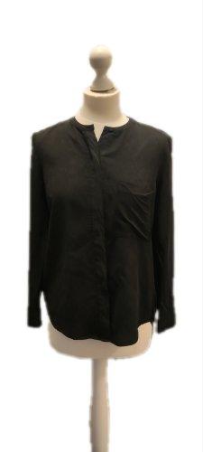 Custommade Jedwabna bluzka ciemnoszary