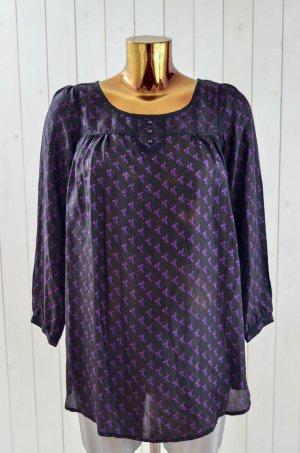 Custommade Tunic Blouse multicolored silk