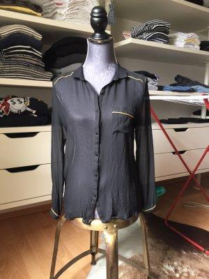 Custommade Bluse transparent schwarz Größe 36