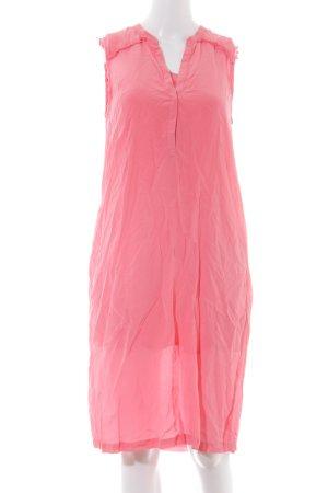 Custommade Chiffon Dress neon pink casual look