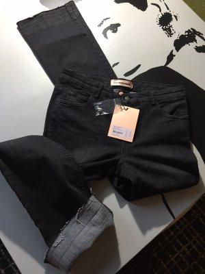 Custommade Pantalone a zampa d'elefante antracite-nero