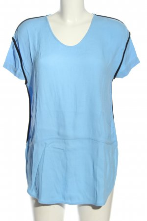 Custommade Short Sleeved Blouse blue-black athletic style