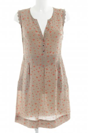 Custommade Shortsleeve Dress light brown-salmon Lace trimming