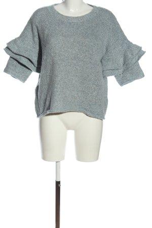 Custommade Short Sleeve Sweater blue casual look