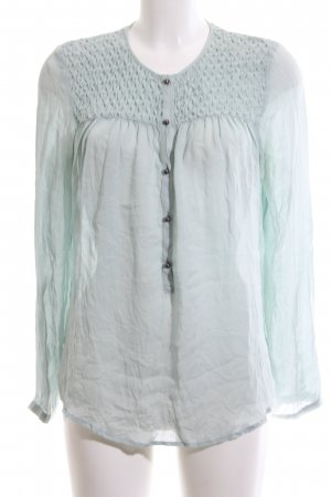 Custommade Long Sleeve Blouse turquoise casual look
