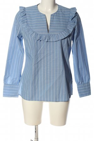 Custommade Long Sleeve Blouse blue-white allover print casual look