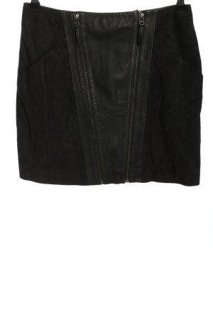 Custommade Lederrock schwarz Casual-Look