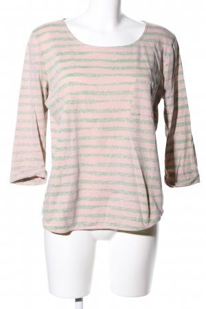 Custommade Longsleeve natural white-khaki striped pattern casual look
