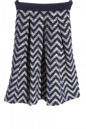 Custommade Midi Skirt blue-white allover print casual look