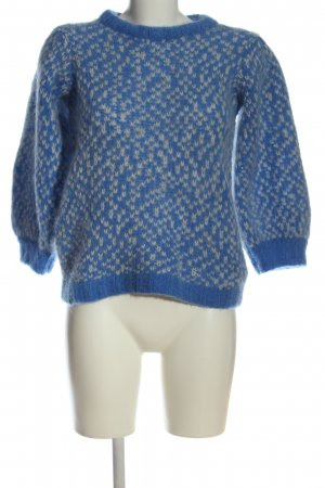 Custommade Crewneck Sweater blue-natural white allover print casual look
