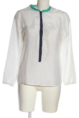 Custommade Blusa in seta bianco stile professionale