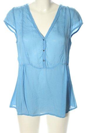 Custommade Seidenbluse blau Casual-Look