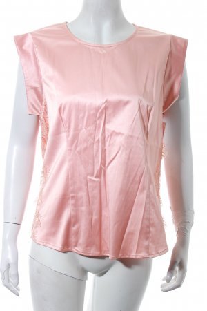 Custommade Shirt pink Lace trimming