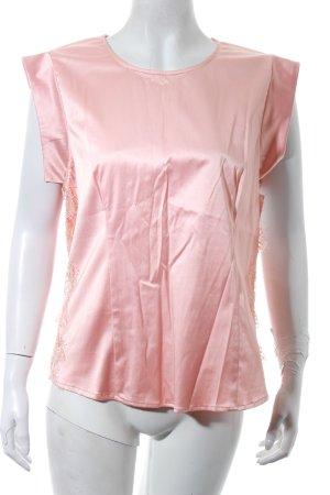 Custommade Shirt rosé Spitzenbesatz