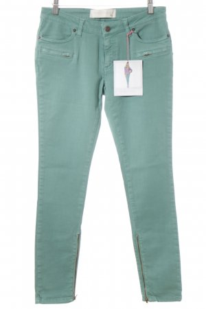 Custommade Skinny Jeans turquoise street-fashion look