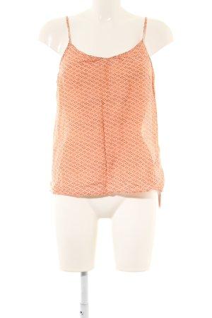 Custommade Top con bretelline arancione chiaro-marrone stampa integrale
