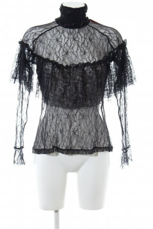 Custommade Lace Blouse black extravagant style