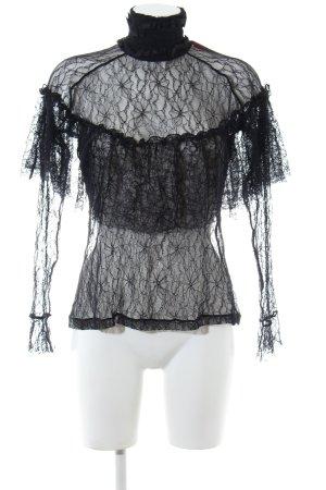Custommade Spitzenbluse schwarz extravaganter Stil