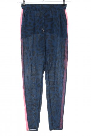 Custommade Stoffhose Leomuster Casual-Look