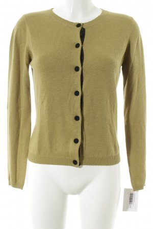 Custommade Cardigan lime yellow-black simple style
