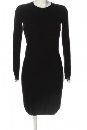 Custommade Knitted Dress black casual look
