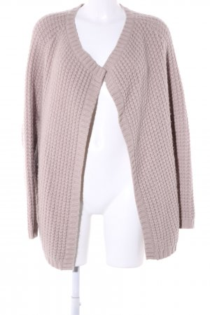 Custommade Knitted Coat pink weave pattern casual look
