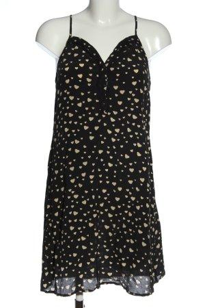 Custommade Sukienka na ramiączkach czarny-kremowy Na całej powierzchni